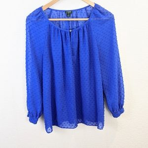 J Crew cobalt blouse